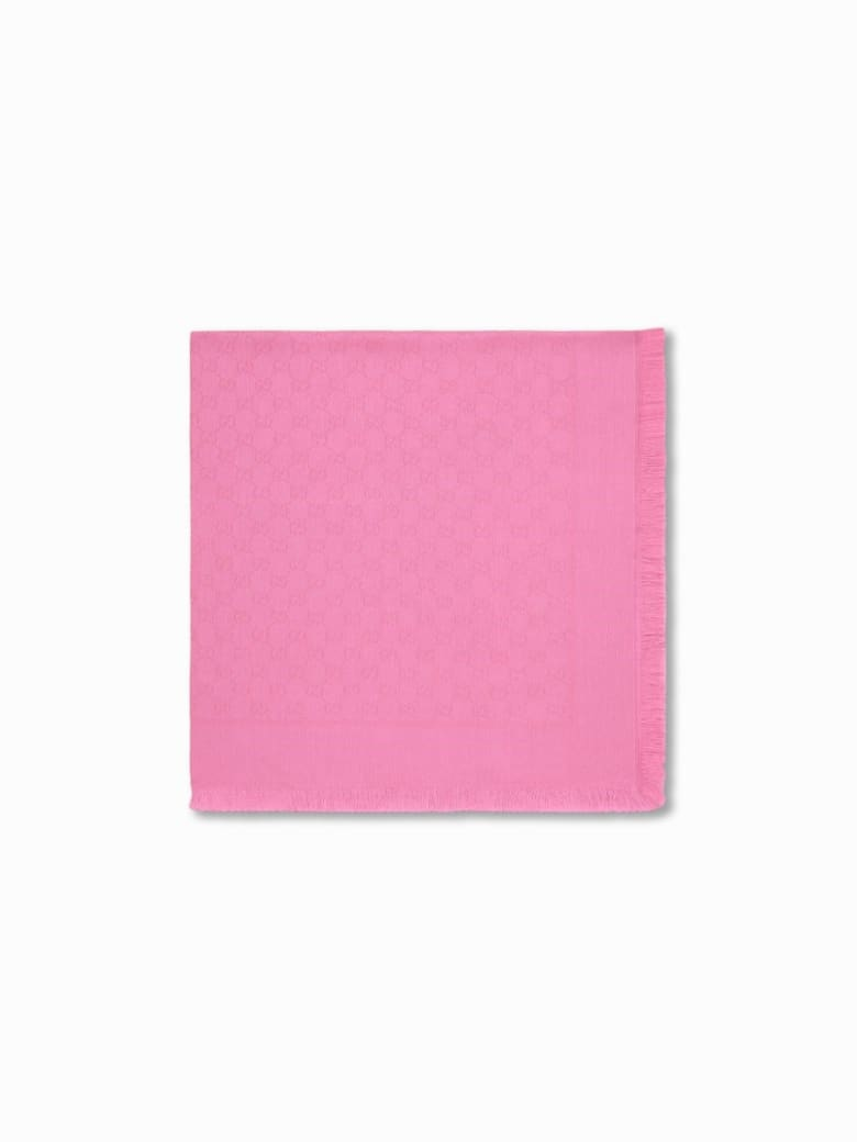 Gucci Gg Cotton Stole - Pink
