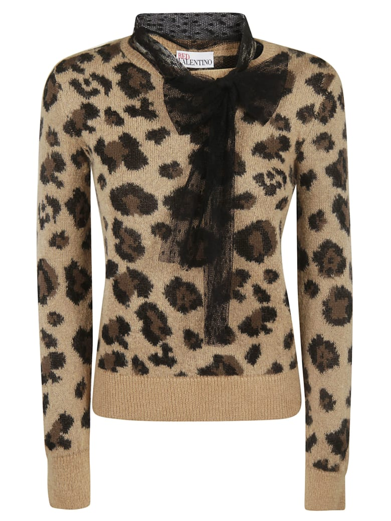 RED Valentino Knitted Sweater - camel