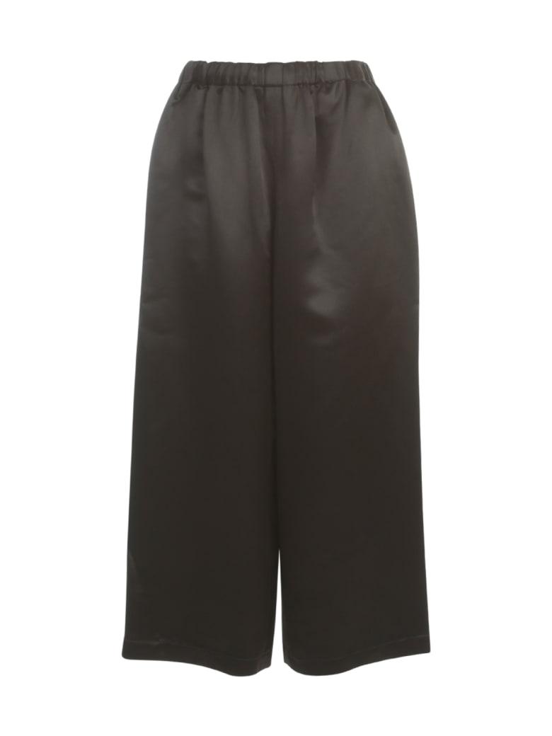 Comme des Garçons Comme des Garçons Silk Cupra Satin Straight Pants Elastic Waist - Black