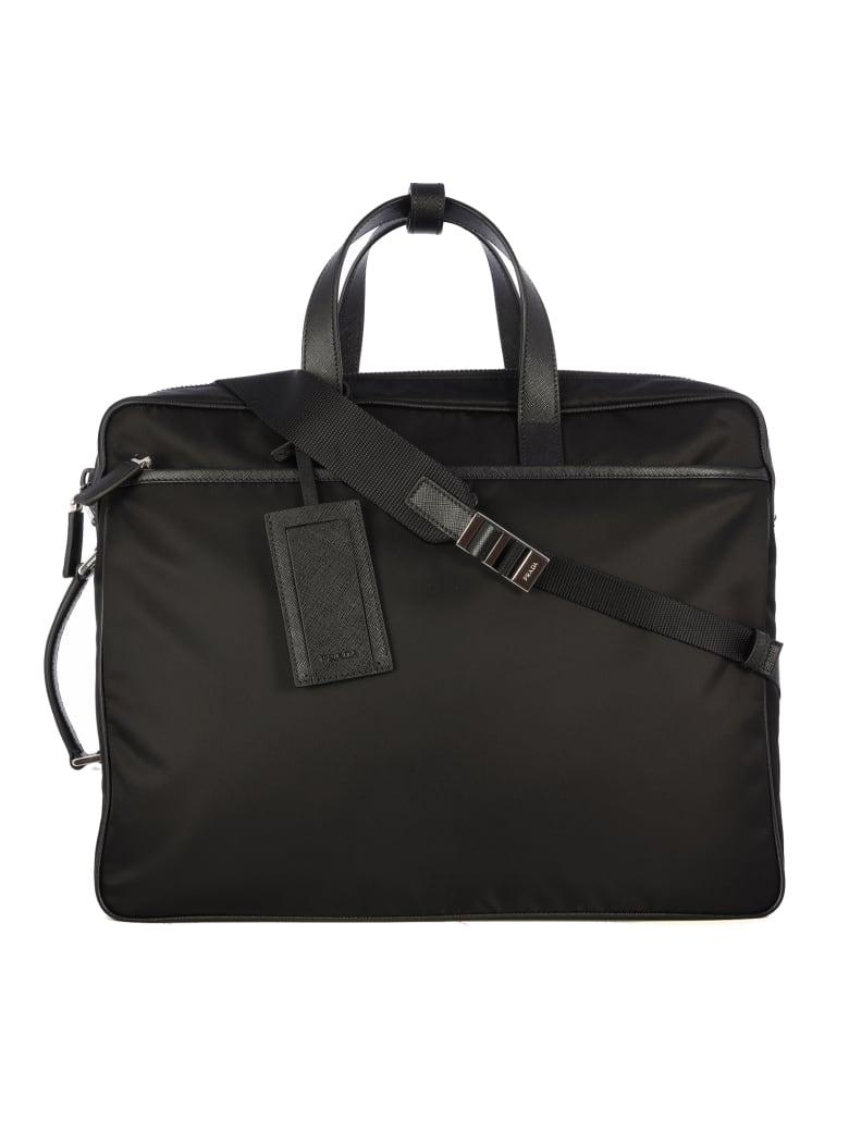 Prada New Spillacci Leather Bag - Black