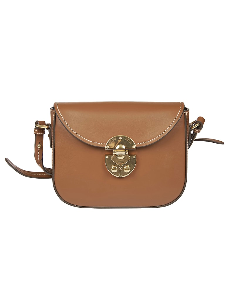 Miu Miu Snap-lock Shoulder Bag - Cognac