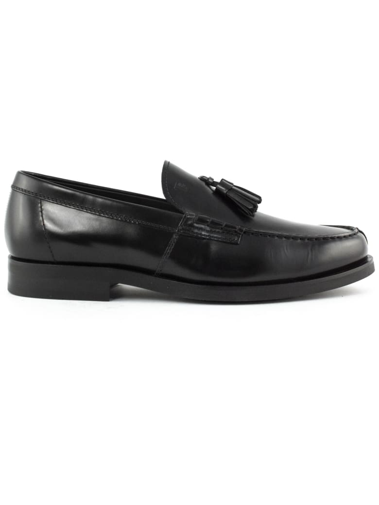 Tod's Loafers In Black Smooth Leather - Nero