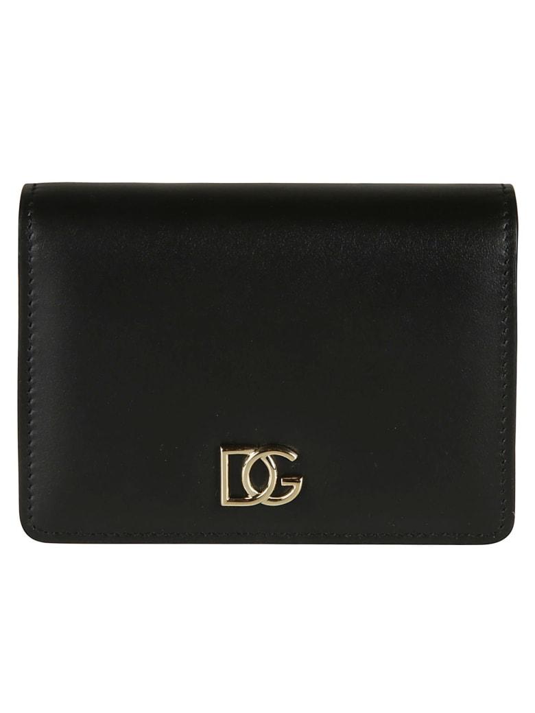 Dolce & Gabbana Classic Snap Button Wallet - black