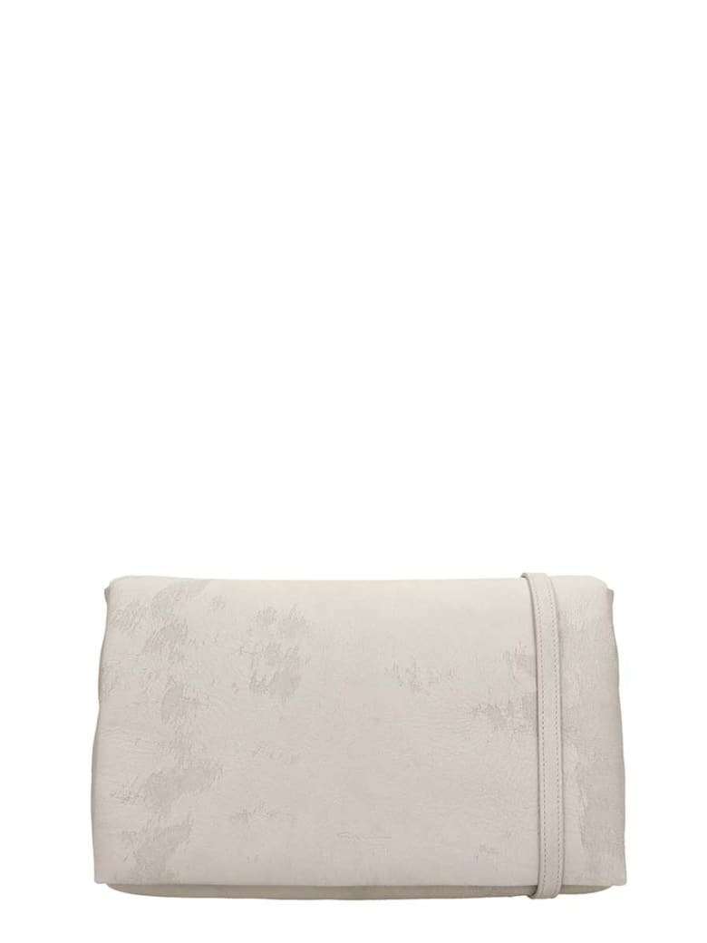 Rick Owens Grey Leather Adri Med Flap Bag - grey