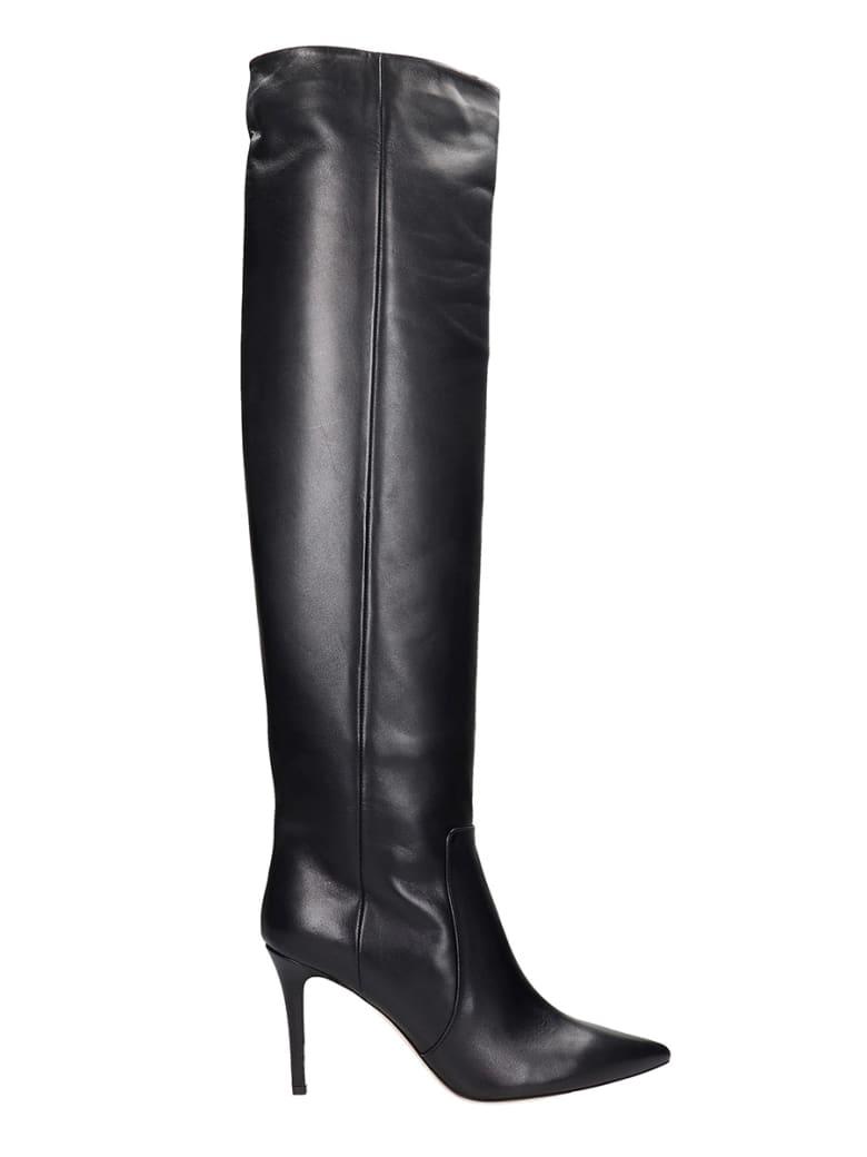 Fabio Rusconi High Heels Boots In Black Leather - black
