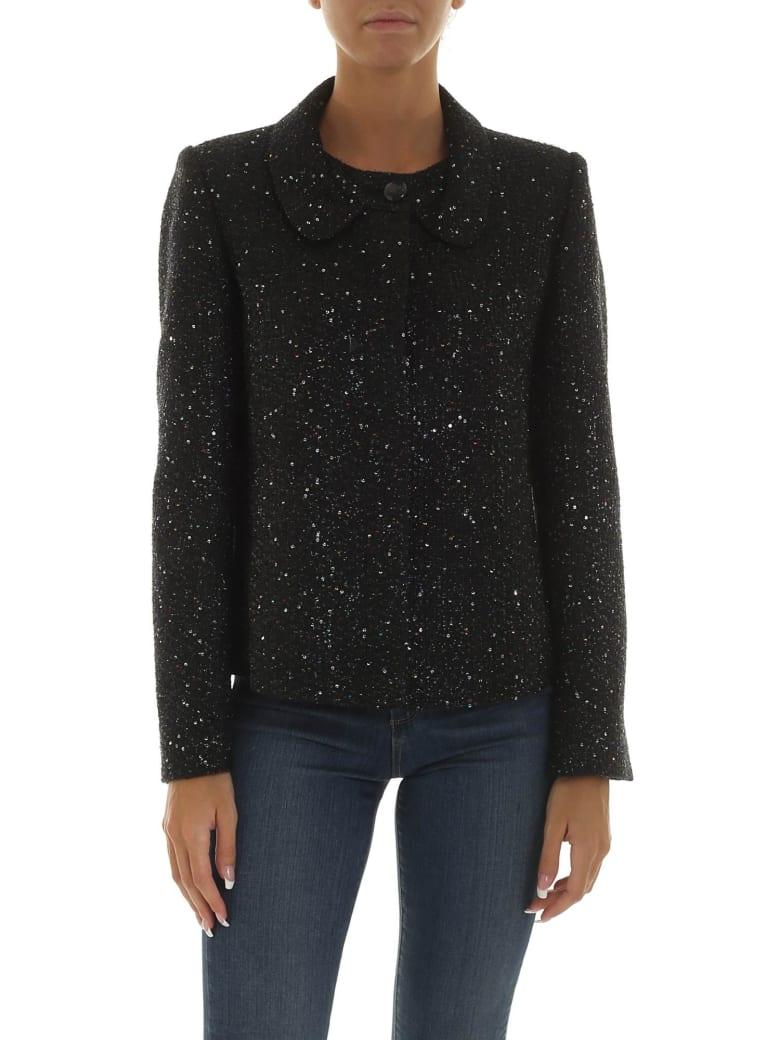 Emporio Armani Sequin Embellished Jacket - Nero