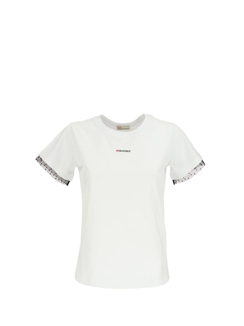 RED Valentino Logo Printed T-shirt White - White