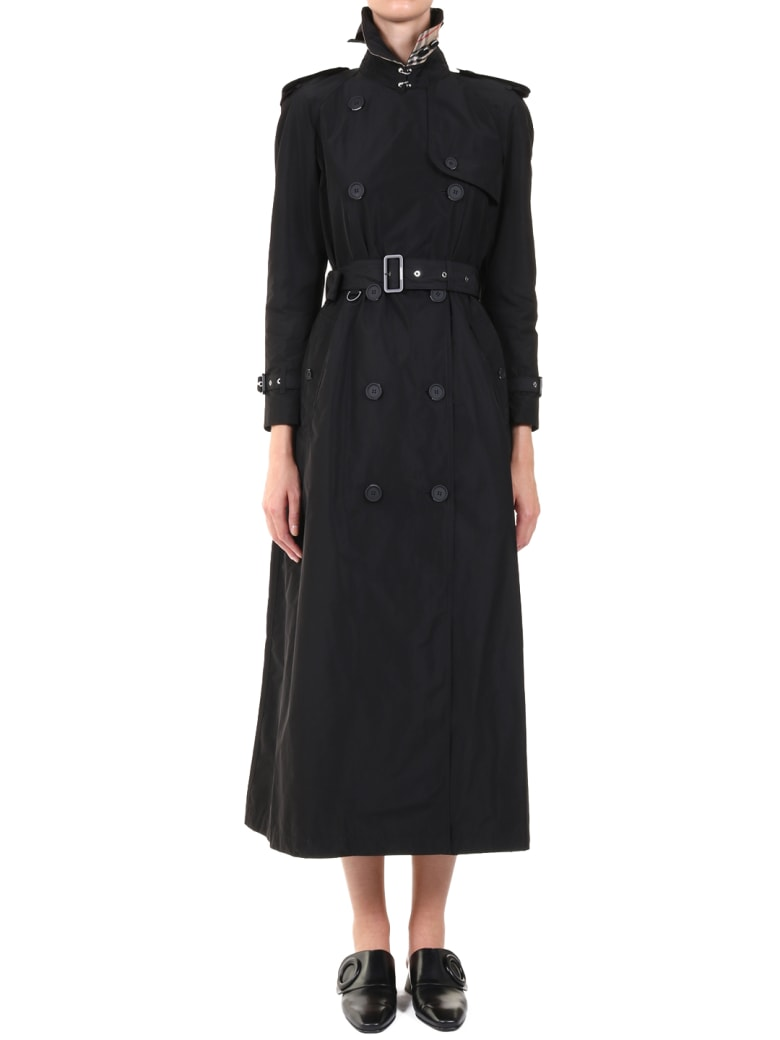 Burberry Extra Long Trench Coat - Black
