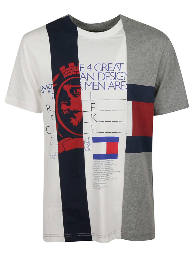 Best price on the market at italist | Tommy Hilfiger Tommy Hilfiger Patchwork Stripe T shirt