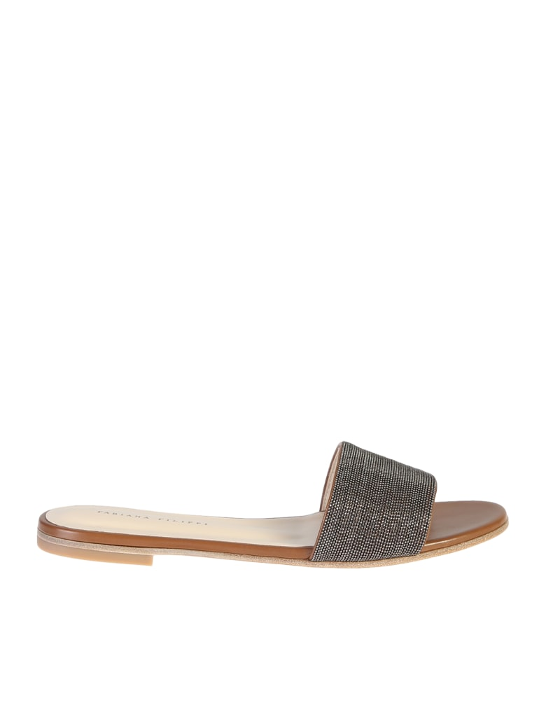 Fabiana Filippi Embellished Sandals - Brown