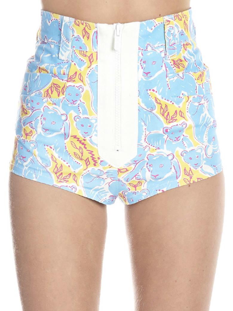 Miu Miu 'pathers' Shorts - Multicolor