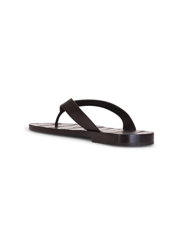 Balenciaga License Thong Sandals - NERO
