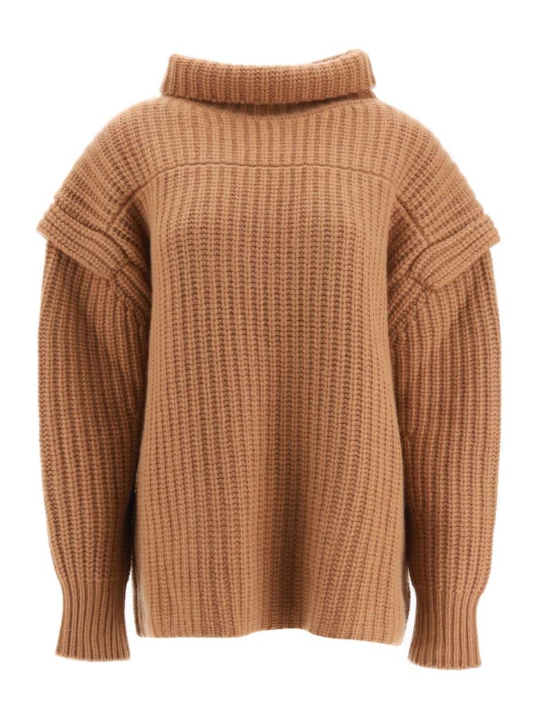 Loulou Studio Parata Wool Sweater - CAMEL (Brown)