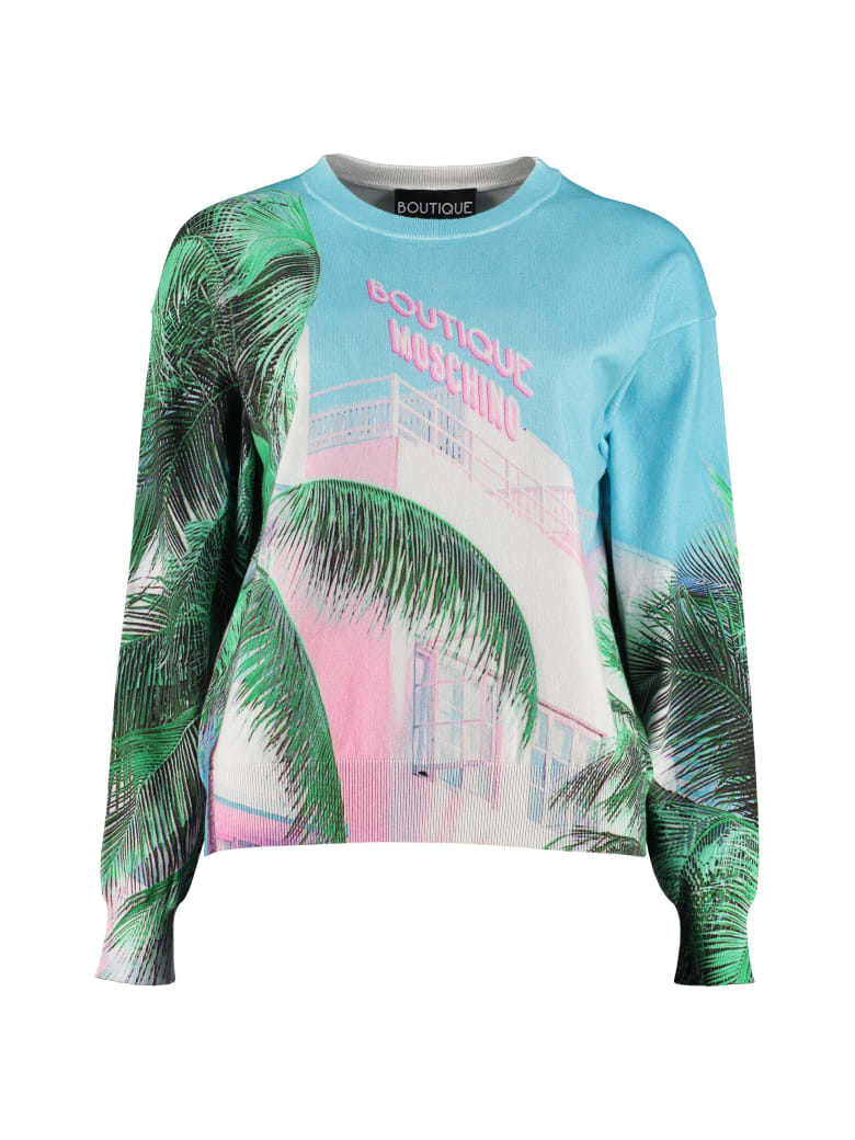 Boutique Moschino Printed Cotton-blend Sweater - Multicolor