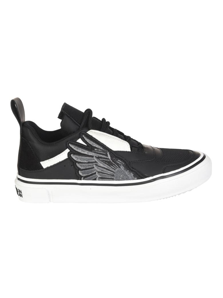 Marcelo Burlon Side Wings Vulcanized Sneakers - Black