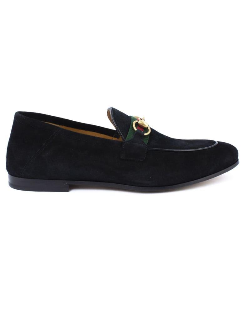 Gucci Black Suede Horsebit Loafer - Nero