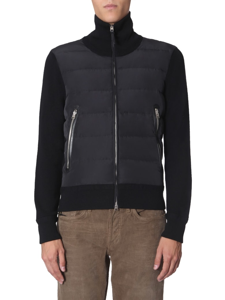 Tom Ford Sweater With Zip - NERO