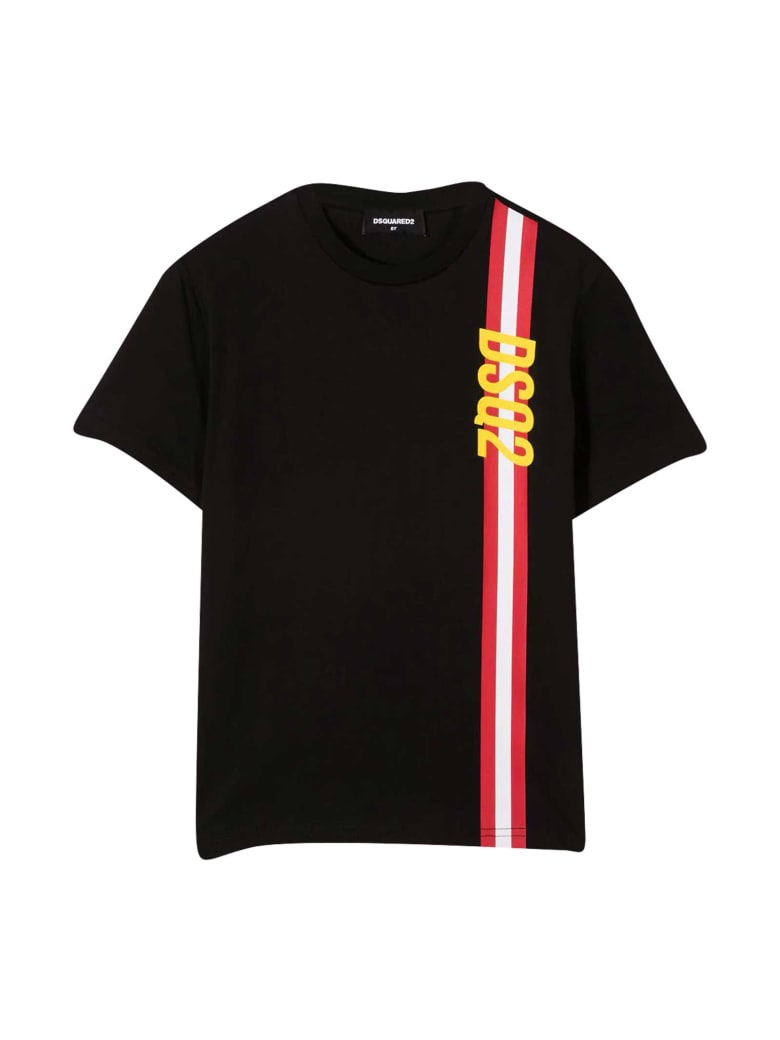 Dsquared2 Black Teen T-shirt - Nera