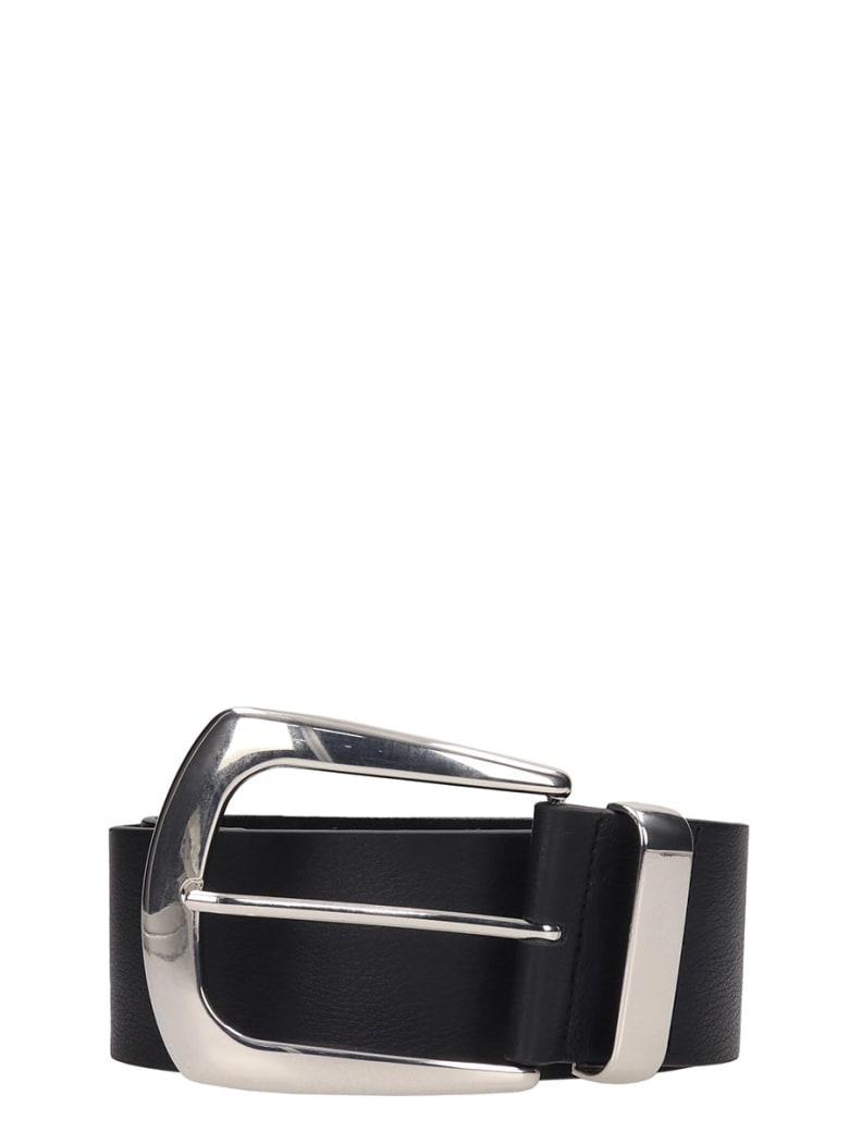 B-Low the Belt Black Leather Belt - black