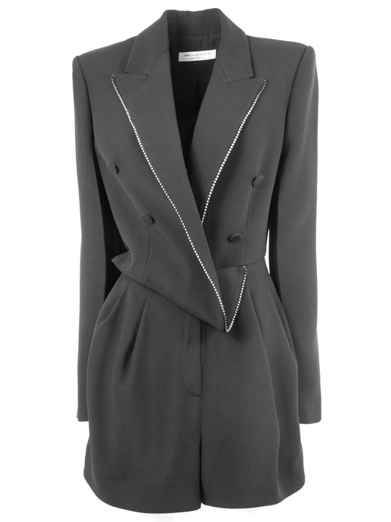 Philosophy di Lorenzo Serafini Suit In Black Fabric - Nero