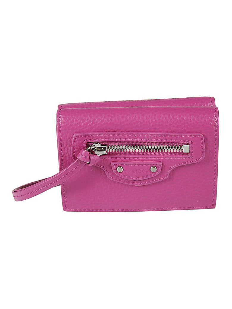 Balenciaga Mini Neo Classic Wallet - Fucsia