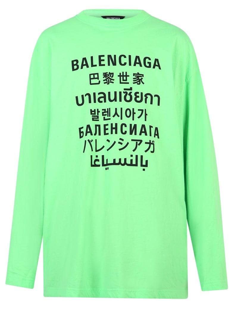 Balenciaga Branded T-shirt - Verde