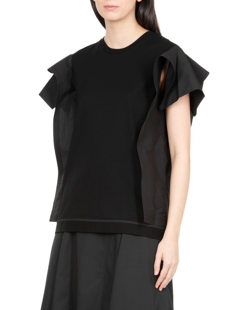3.1 Phillip Lim Cotton T-shirt - BLACK