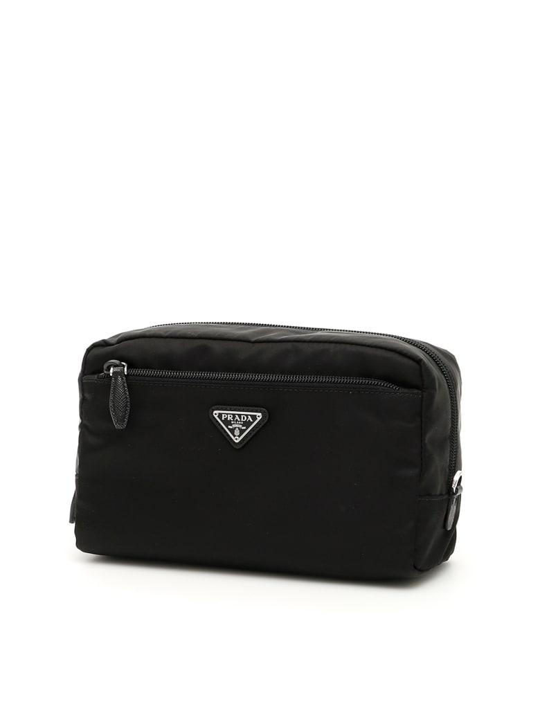 Prada Vela Case With Handle - NERO (Black)