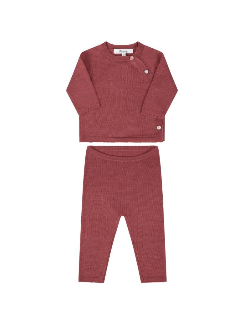 Bonpoint Pink Suit For Babygirl - Var. uni