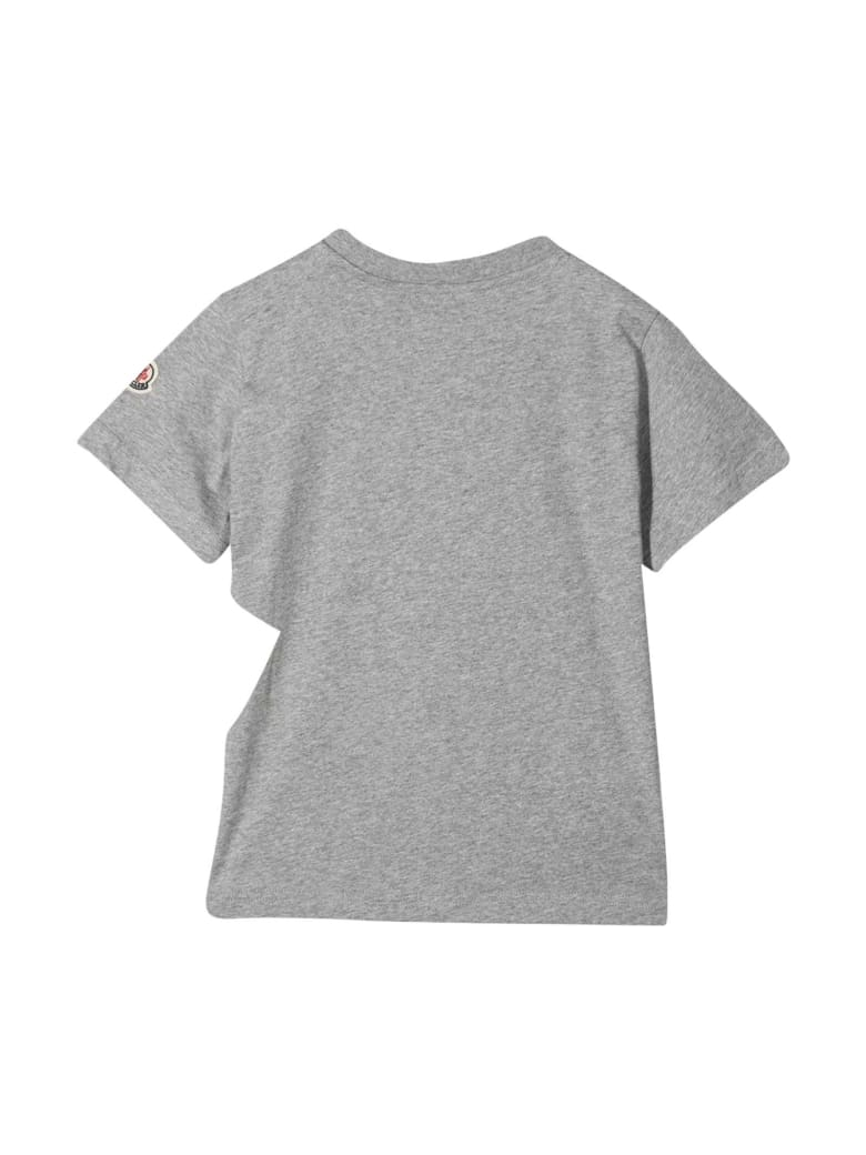 Moncler Grey T-shirt With White Print - Unica