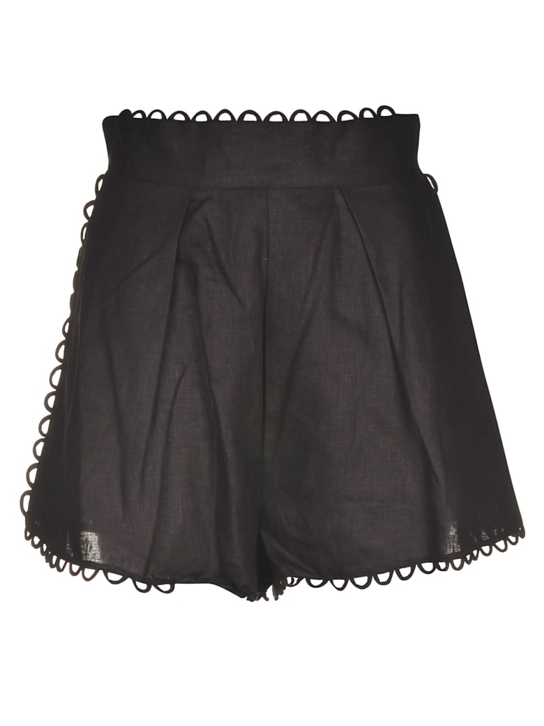 Zimmermann Allia High Waist Shorts - NOIR