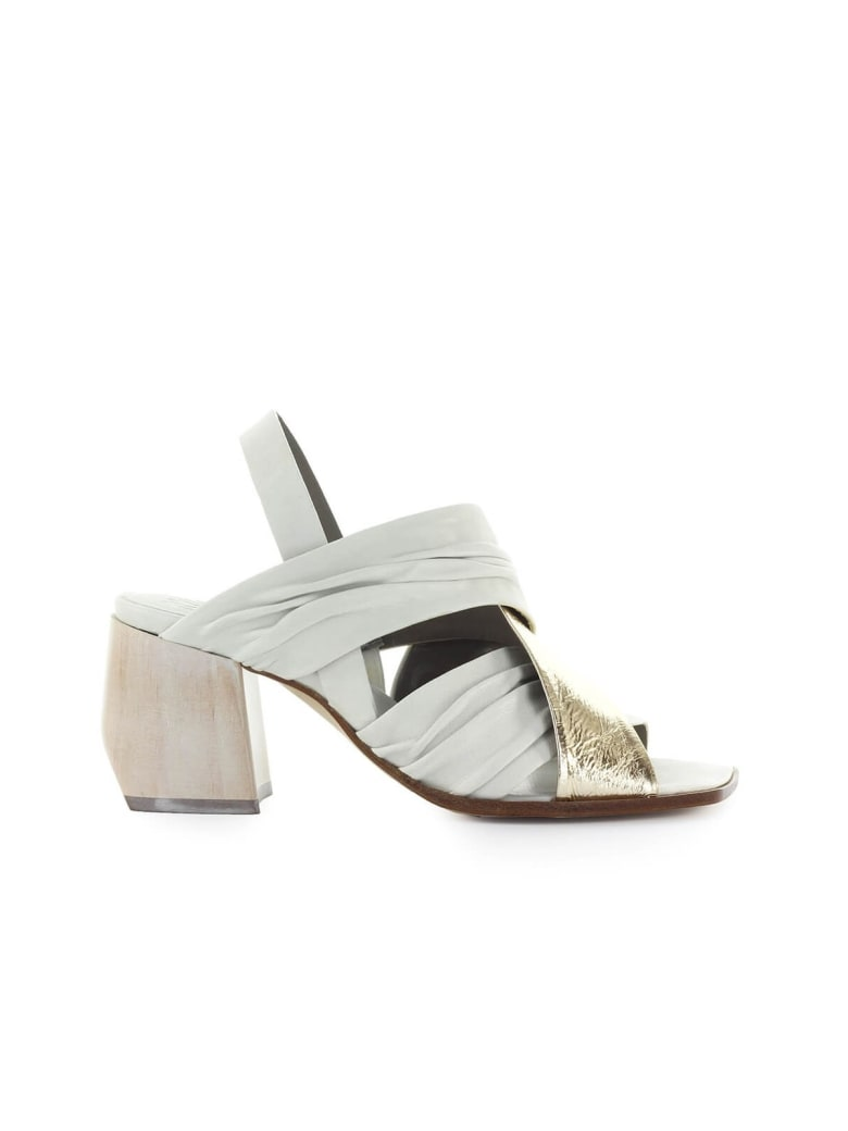 IXOS White Gold Heeled Sandal - Gesso / Oro (Gold)