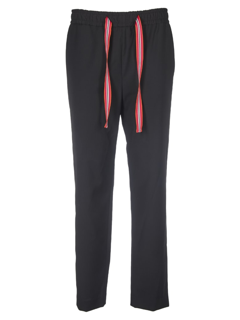 Paul Smith Black Trousers With Drawstring - Black