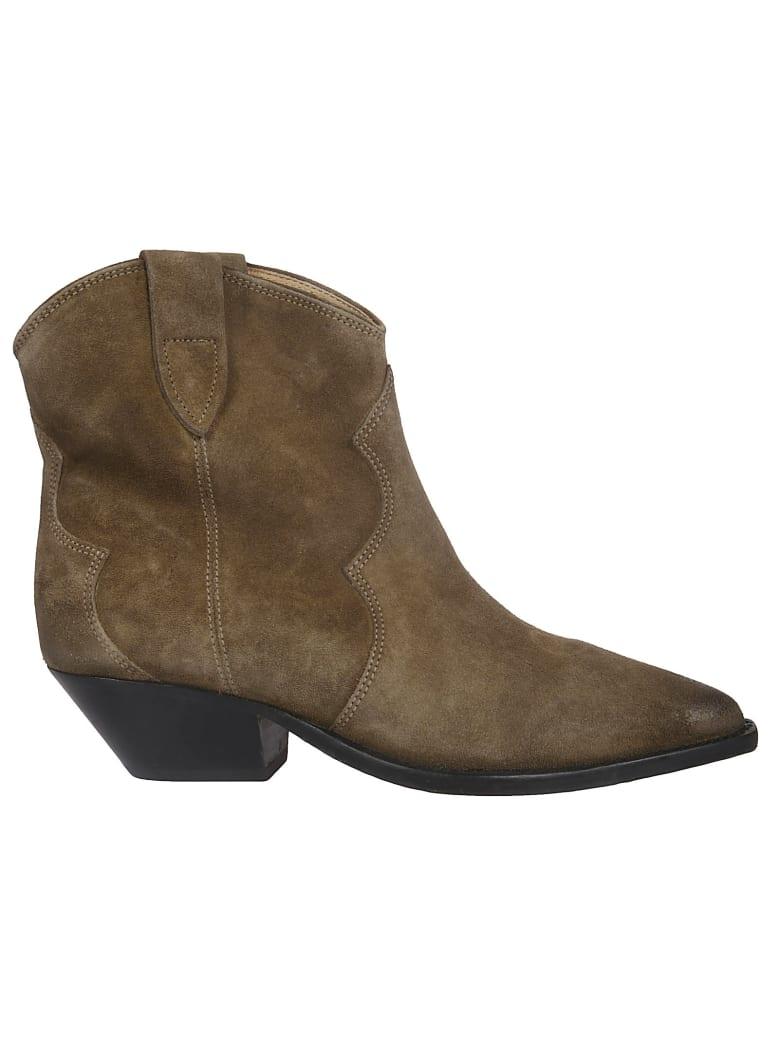 Isabel Marant Washed Santiago Ankle Boots - grey