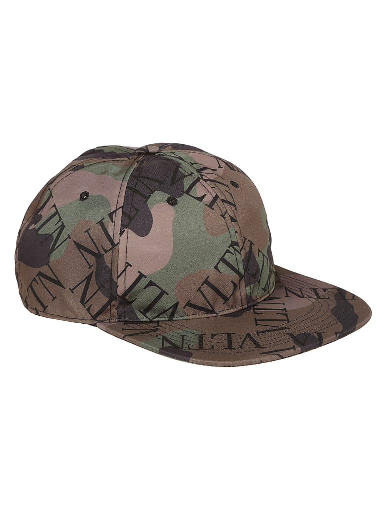 Valentino Garavani Vltn Logo Baseball Cap - Army Green Brush Wood Nero
