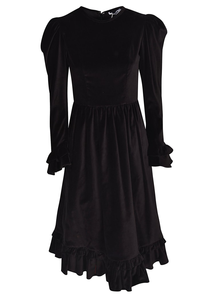 Batsheva Ruffled Dress - Nero