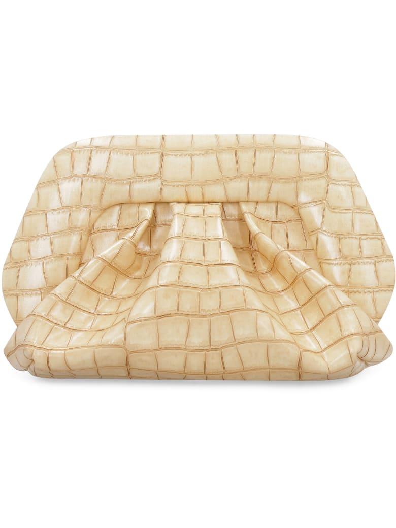 THEMOIRè Gea Faux Leather Clutch - Beige