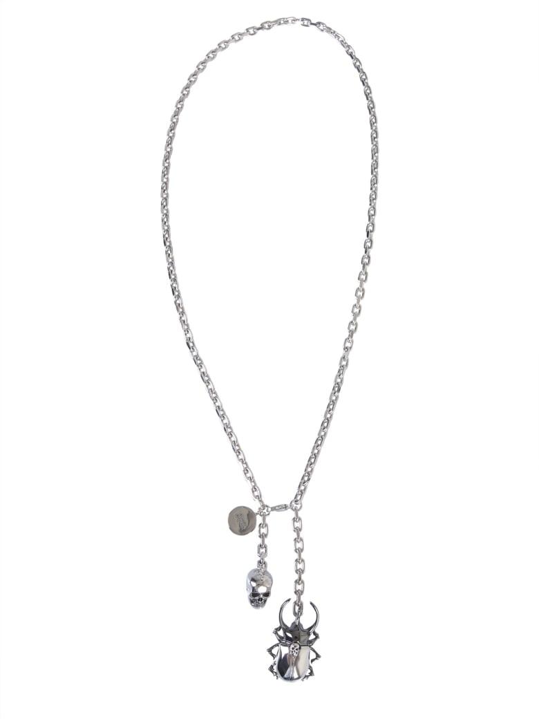 Alexander McQueen Beetle Necklace - ARGENTO