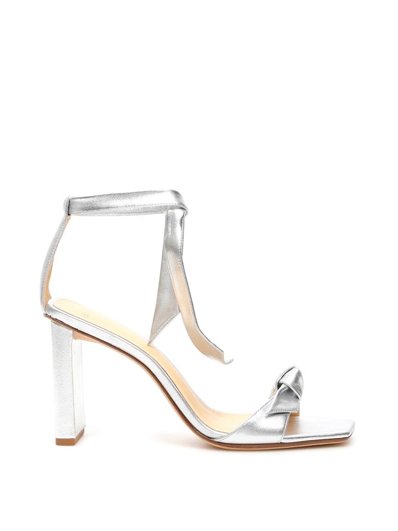 Alexandre Birman Clarita Square Pillar 85 Sandals - SILVER (Silver)