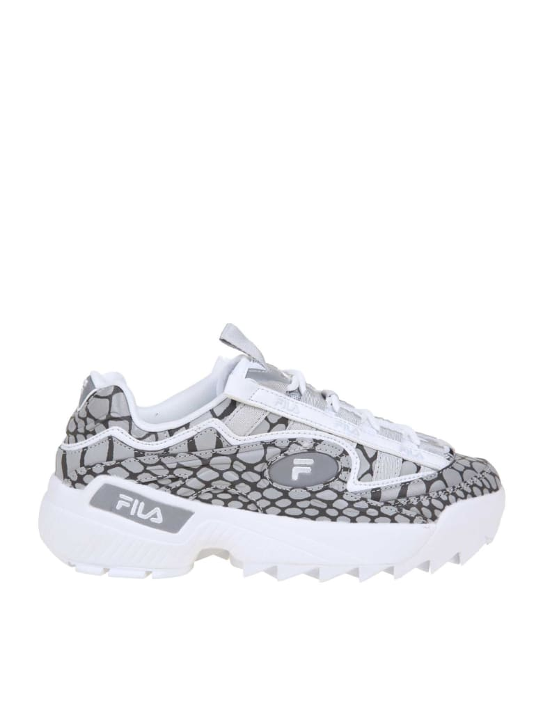Fila D-formation R Wmn Leather Sneakers - Gray