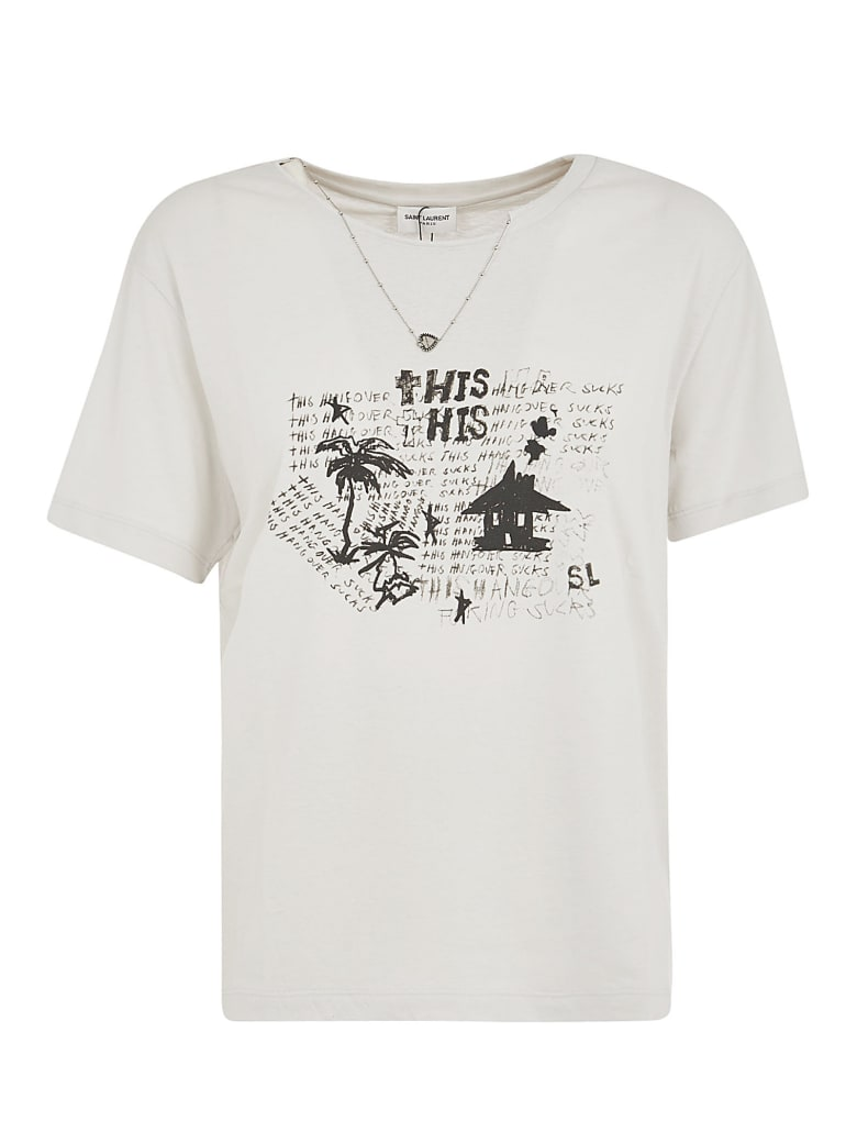 Saint Laurent This T-shirt - White