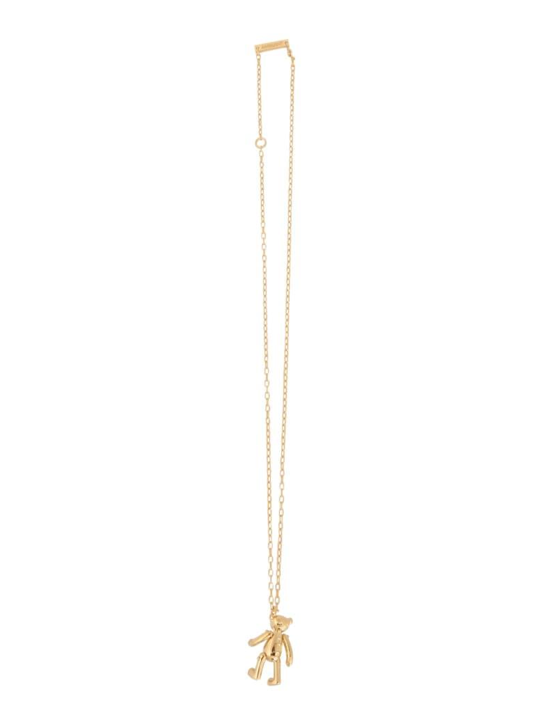 AMBUSH Silver Necklace With Teddy Bear Pendant - ORO