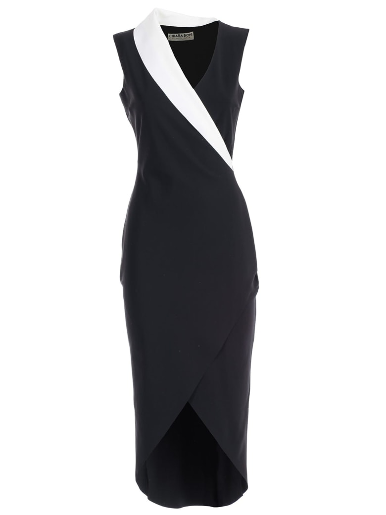 La Petit Robe Di Chiara Boni Sleeveless Dress - Bianco Nero Bicolore