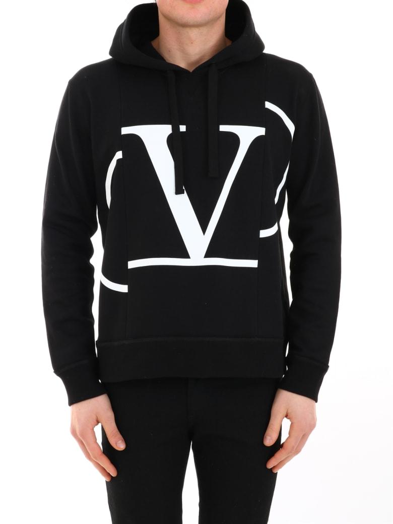 Valentino Logo Sweatshirt Black - Black/white