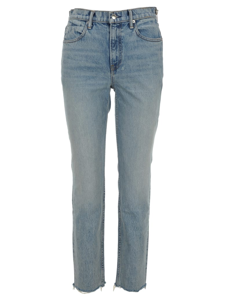 T by Alexander Wang Straight Leg Jeans - BLITCH BLUE