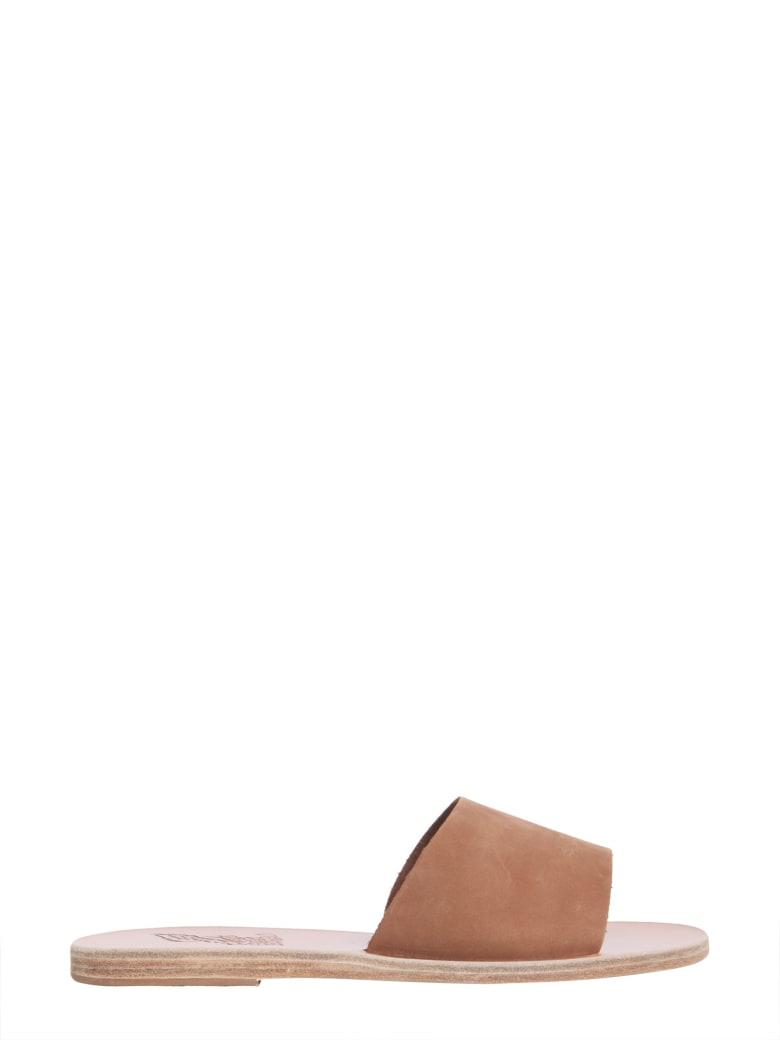 Ancient Greek Sandals Tayagete Slide Sandals - MARRONE
