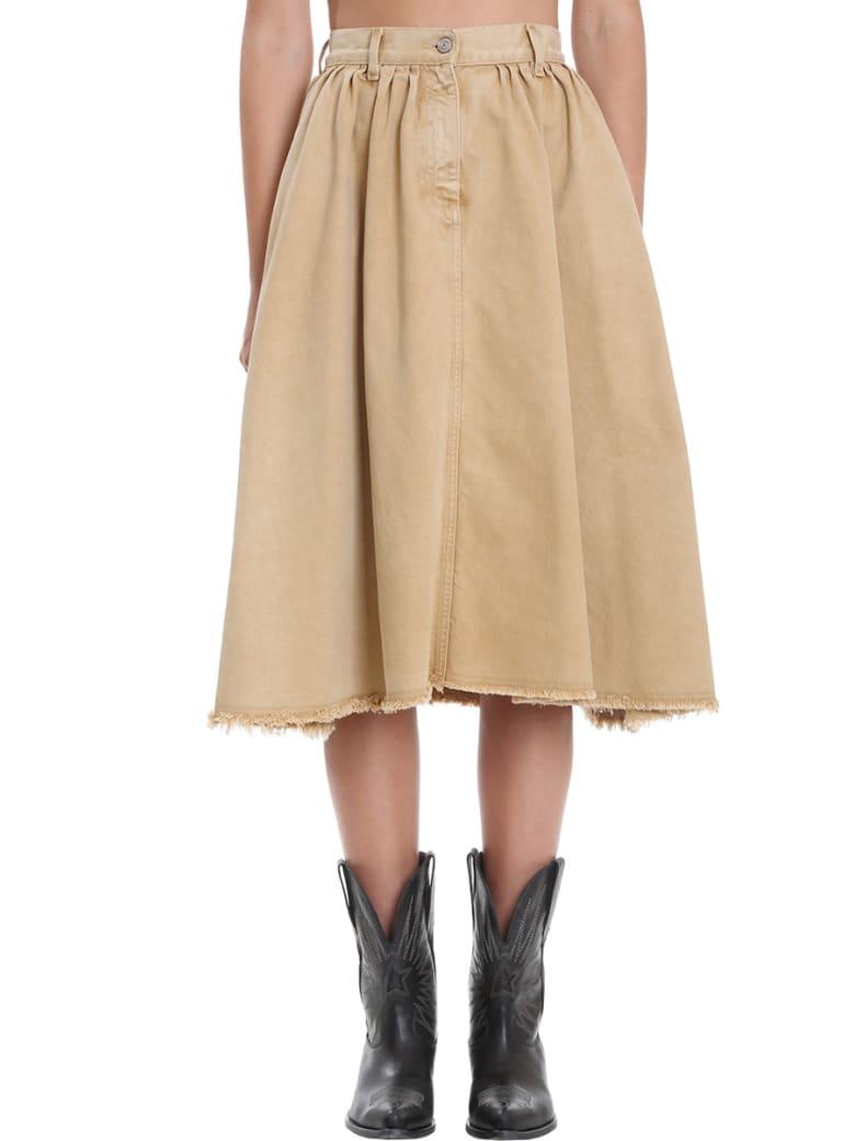 Golden Goose Adele Skirt In Beige Cotton - beige