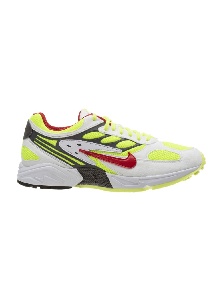 Nike Air Ghost Racer - White Atom Red Neon Yellow Dark Grey