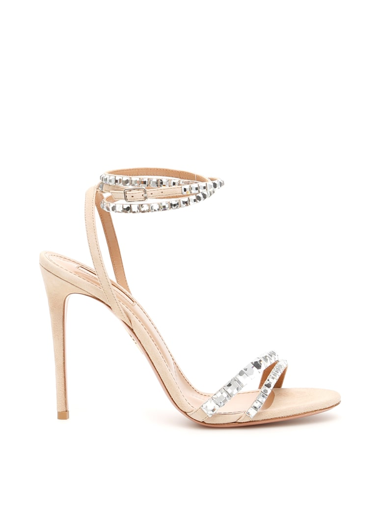 Aquazzura Vera 105 Sandals - NUDE (Beige)