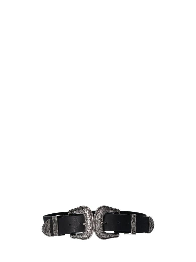 B-Low the Belt Bri Bri Double Buckle Belt - Blacksilver